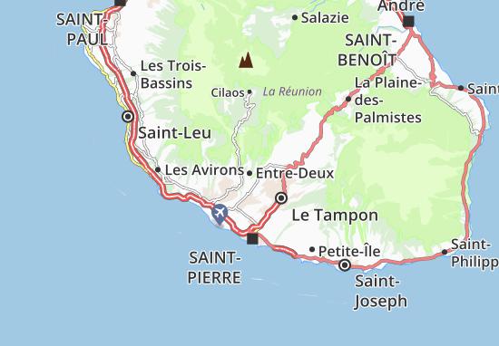 Entre-Deux Map