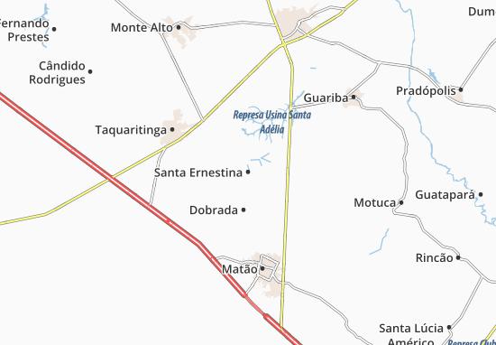Kaart Plattegrond Santa Ernestina