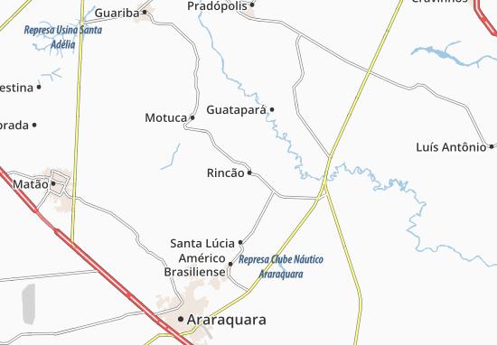 Kaart Plattegrond Rincão