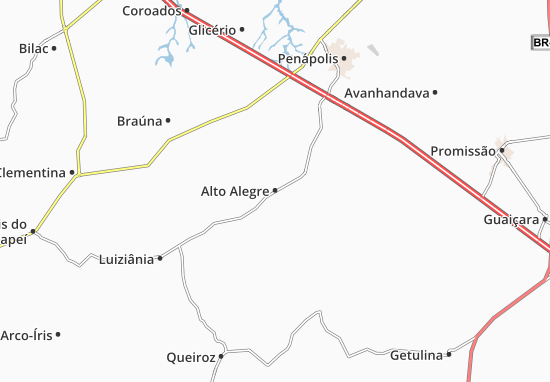 Carte-Plan Alto Alegre