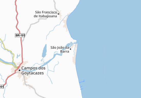 São João da Barra Map