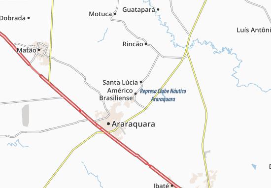 Américo Brasiliense Map