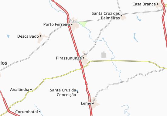 Kaart Plattegrond Pirassununga