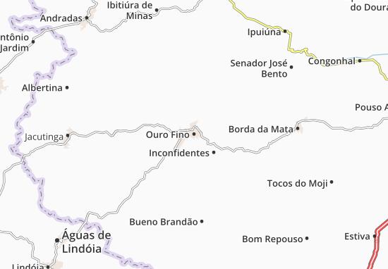 Ouro Fino Map
