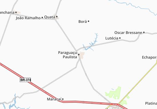 Mappe-Piantine Paraguaçu Paulista