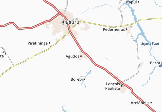Agudos Map