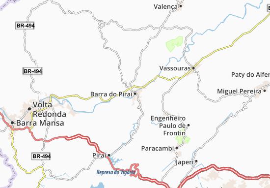 Barra do Piraí Map