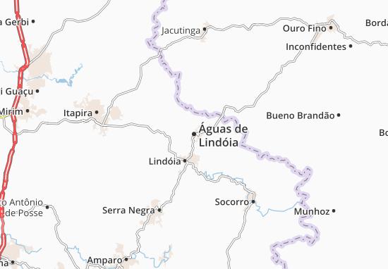 Carte-Plan Águas de Lindóia