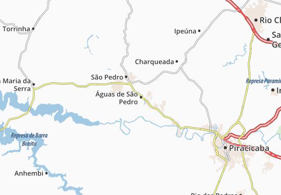 Carte-Plan Águas de São Pedro