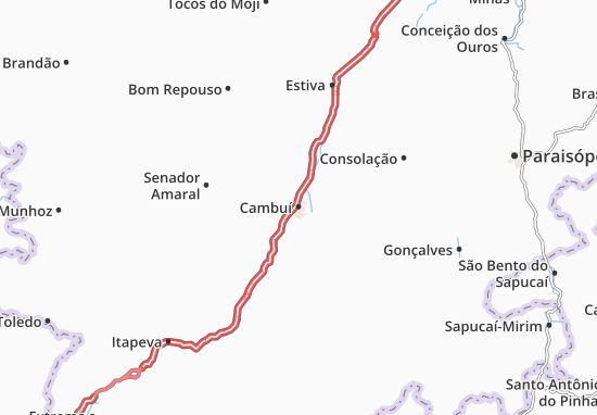 Cambuí Map