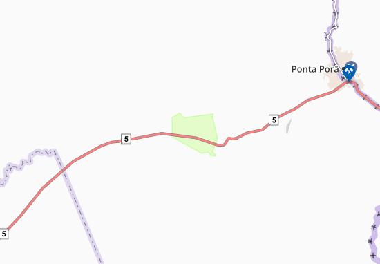 Cerro Cora Map
