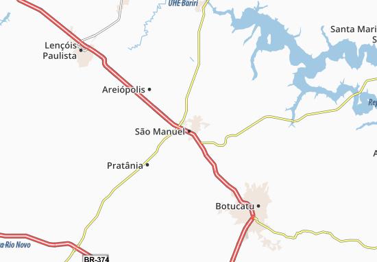 São Manuel Map