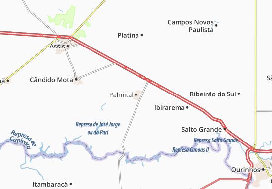 Palmital Map
