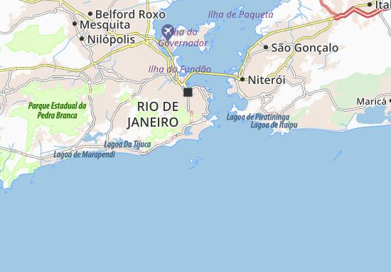 Karte, Stadtplan Favela Pavão Pavãozinho - ViaMichelin