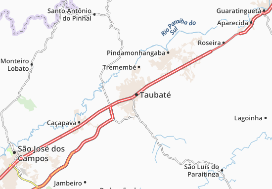 Taubaté Map