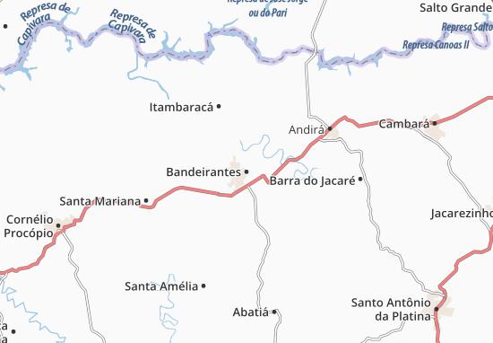 Bandeirantes Map