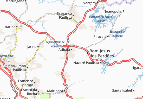 Mapas-Planos Atibaia