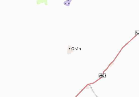 Mapa Plano Orán