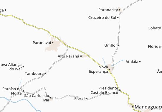 Carte-Plan Alto Paraná