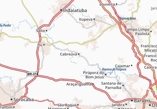 Kaart Plattegrond Cabreúva