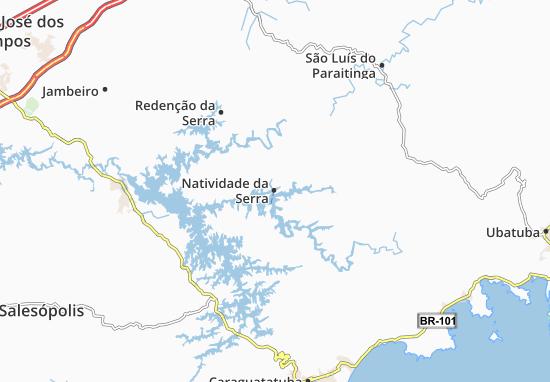Natividade da Serra Map