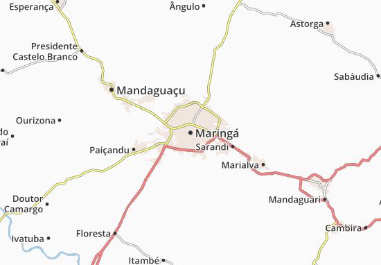 Maringá Map