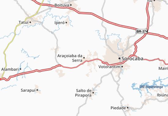 Carte-Plan Araçoiaba da Serra