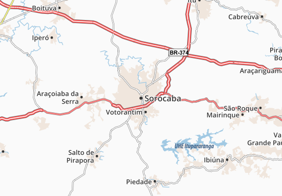 Sorocaba Map