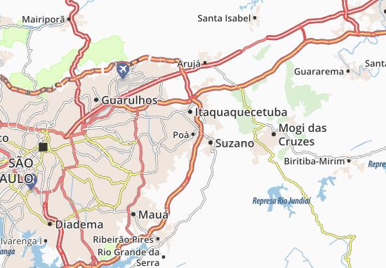 Poá Map