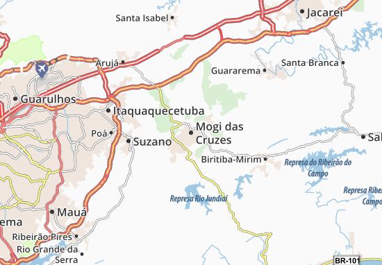 Mogi das Cruzes Map