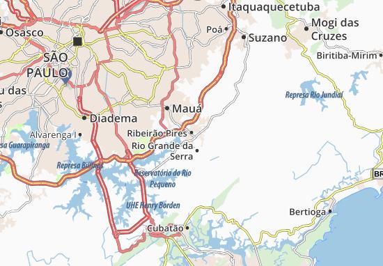 Ribeirão Pires Map