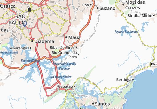 Rio Grande da Serra Map