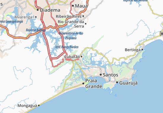 Kaart Plattegrond Cubatão