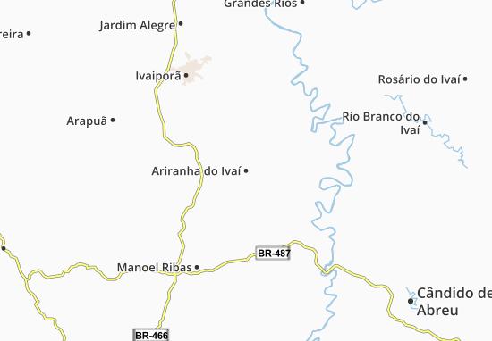 Carte-Plan Ariranha do Ivaí