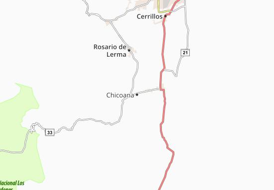 Kaart Plattegrond Chicoana