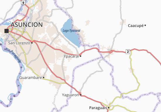 Ypacarai Map