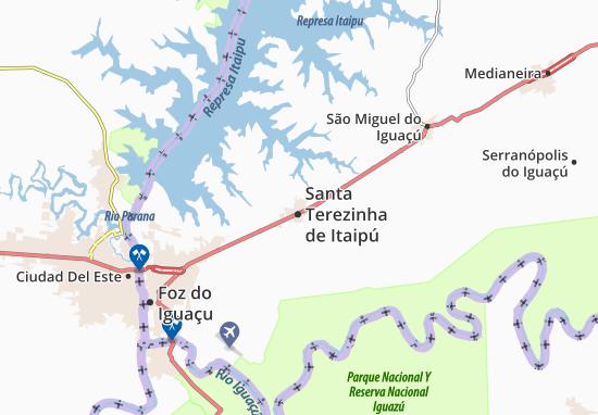 Santa Terezinha de Itaipú Map