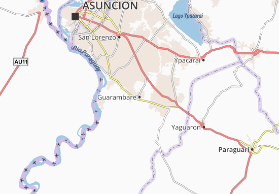 Guarambare Map
