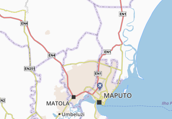 Kaart Plattegrond São Gabriel das Dores