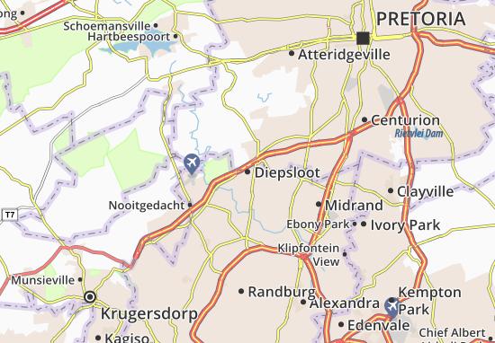 Map of Diepsloot - Michelin Diepsloot map - ViaMichelin