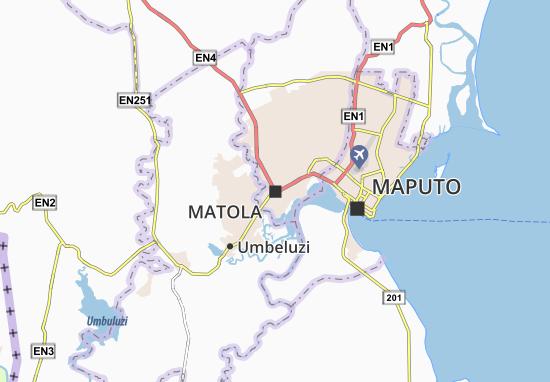 Kaart Plattegrond Matola