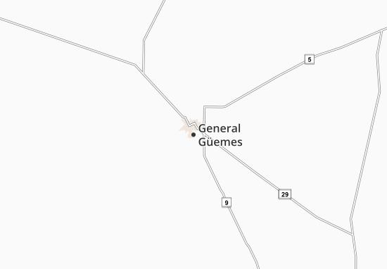 Carte-Plan General Güemes