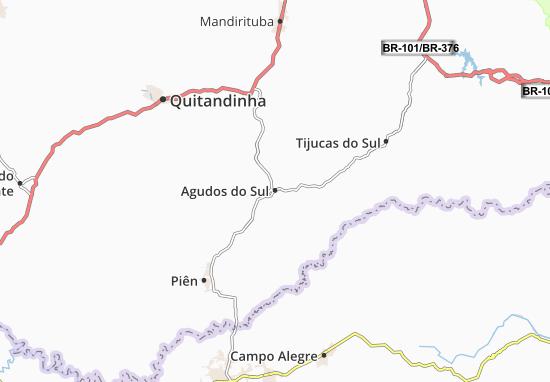 Carte-Plan Agudos do Sul