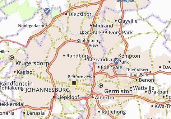 Map of Alexandra - Michelin Alexandra map - ViaMichelin