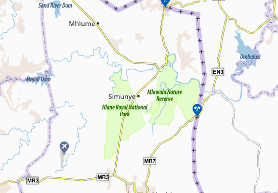 Mapa Plano Simunye