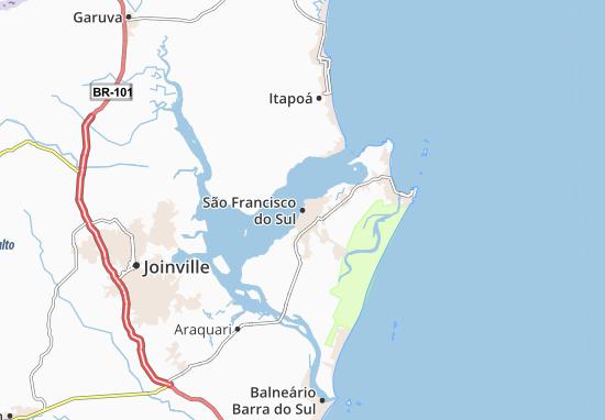 Carte-Plan São Francisco do Sul
