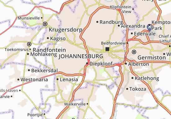 Map of Diepkloof Zone 1  Michelin Diepkloof Zone 1 map  ViaMichelin
