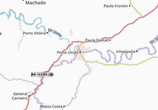 Carte-Plan Porto União