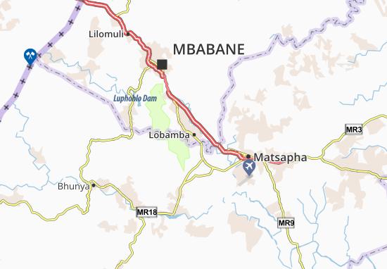 Mapa Plano Lobamba