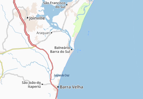 Mapas-Planos Balneário Barra do Sul